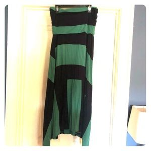 Gap green and navy convertible dress
